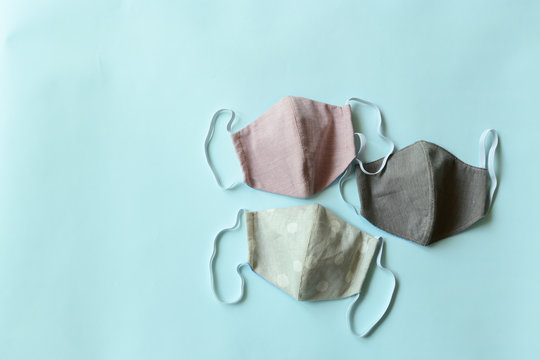 face protective mask handmade from fashion fabric cloth