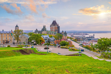 Wall Mural - Panoramic view of Quebec City skyline in Canada