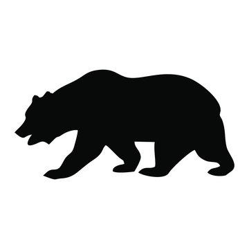 California Bear Icon Black Silhouette Vector