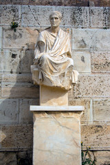 Beautiful statue of the acropolis