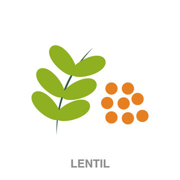 lentil flat icon on white transparent background. You can be used black ant icon for several purposes.