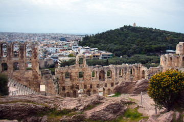 Beautiful landscape of the city of Greece Athens