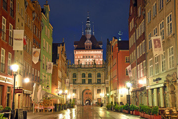 Dluga Street in Old Town of Gdansk, Poland
