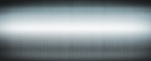Silver brushed metal. Banner background texture