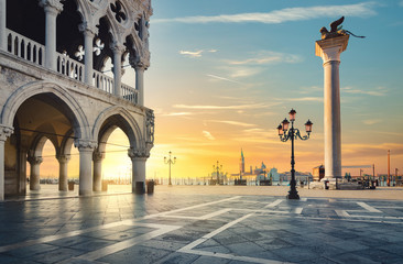 Sunset in Venice Fotomurales
