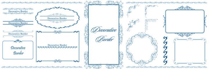 Canvas Prints Butterflies in Grunge ヨーロッパ調のオーナメント・飾り罫・飾り囲み・背景テンプレート素材セット|ビンテージ・レトロ|Decorative border