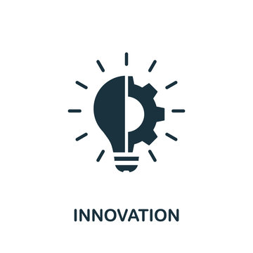 Innovation icon. Simple element from digital disruption collection. Filled Innovation icon for templates, infographics and more