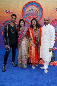 Deepak Ramapriyan, Amritha Vaz, Shagorika Ghosh Perkins, Nakul Dev Mahajan at arrivals for Disney Junior's MIRA, ROYAL DETECTIVE Premiere