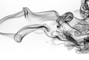Wall Murals Smoke Black smoke abstract on white background. fire design