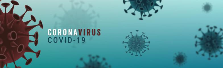 Corona Virus banner illustration - Microbiology And Virology Concept -