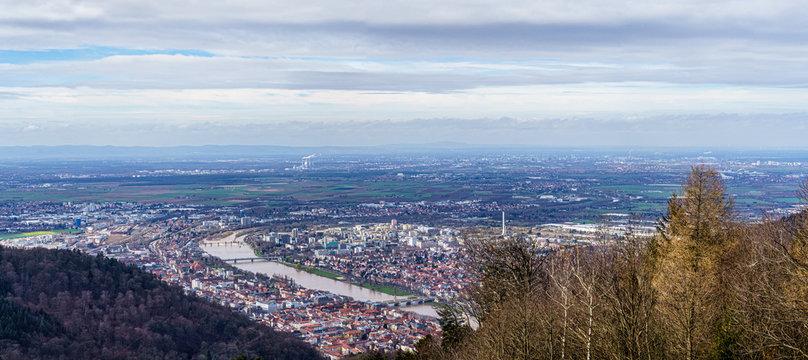 Blick über die Metropolregion Rhein-Neckar