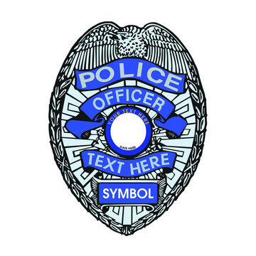 Police Officer badge decorative design template - VECTOR