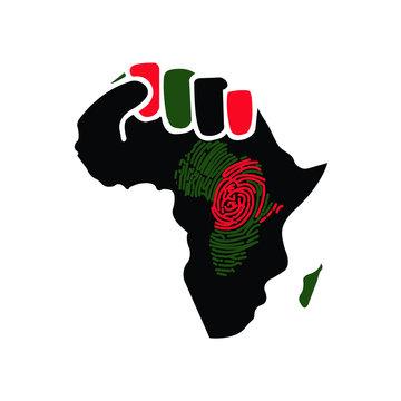 African map beautiful concept design - VECTOR