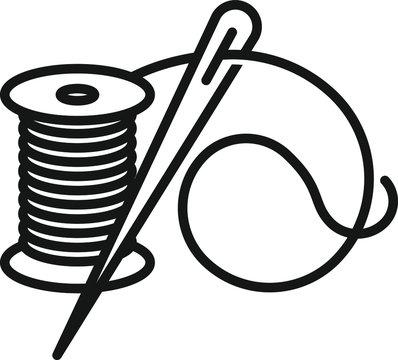 Thread needle icon