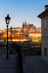 Fotomurales - Panorama of Hradcany at sunrise, Czech Republic