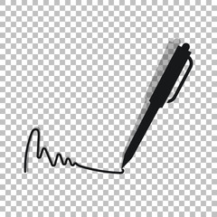 Pen and ink for signature icon