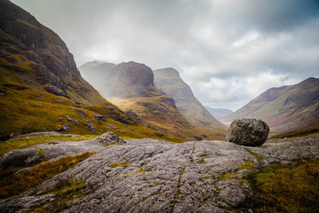 Glencoe, famous valley in the Scottish Highlands
