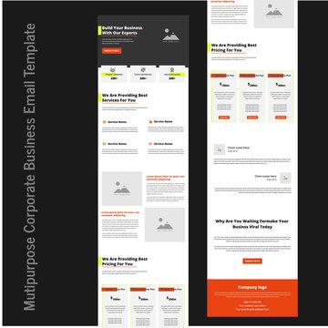 Latest multipurpose corporate business email template Design