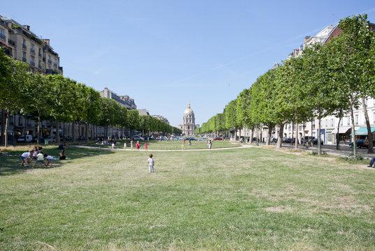 Les jardins de l'avenue de Breteuil