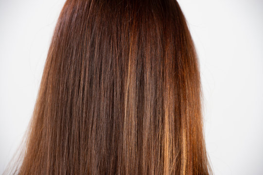 Horizontal back view of healthy natural hair. Haircare concept with copy space