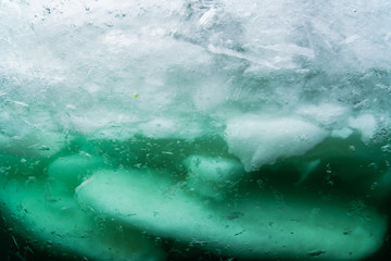 Wall Mural - Drift ice diving
