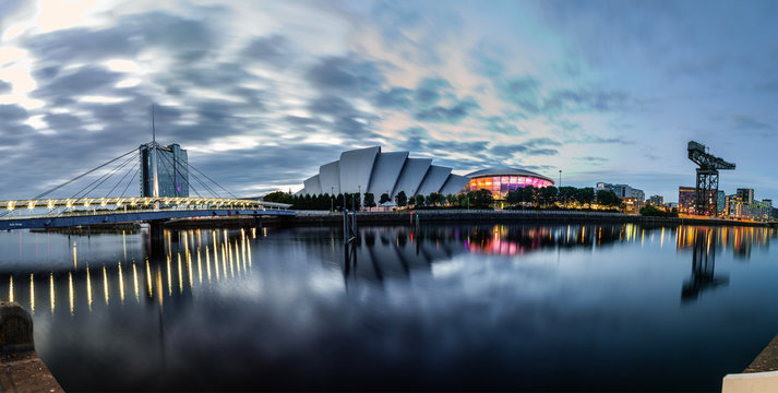 Skyline of Glasgow, Scotland, UK