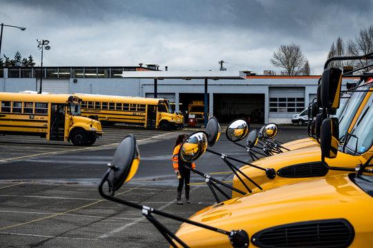 School bus lot #11
