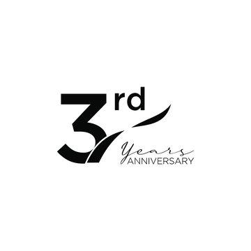 3rd ribbon design banner anniversary