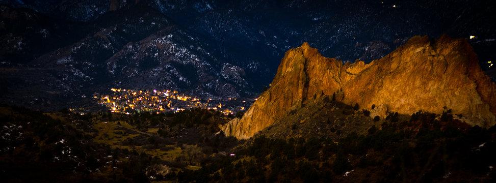 Manitou Springs Colorado evening exposure