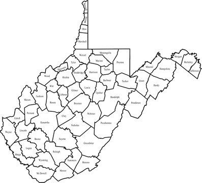 map of West Virginia