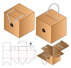 Obraz Box packaging die cut template design. 3d mock-up - fototapety do salonu