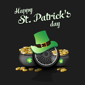 Happy St. Patricks day and bicycle wheel