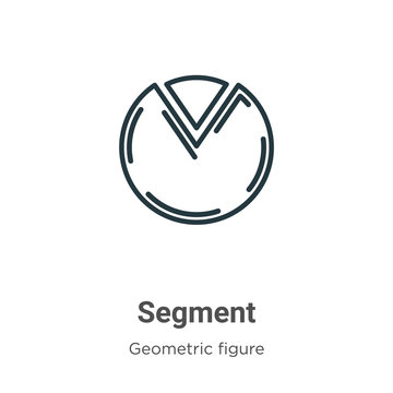 Segment outline vector icon. Thin line black segment icon, flat vector simple element illustration from editable geometry concept isolated stroke on white background