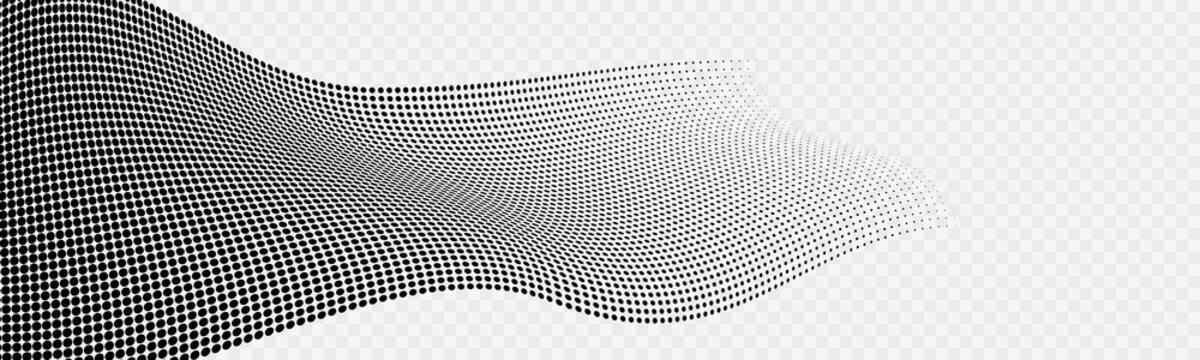 Warped Halftone Gradient Background Design Element