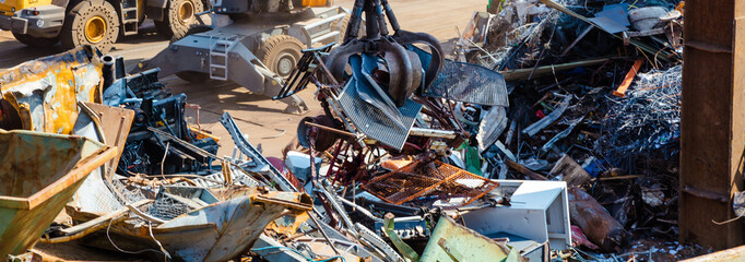 Recyclingindustrie. Business Recycling.Metall Abfalltrennung.