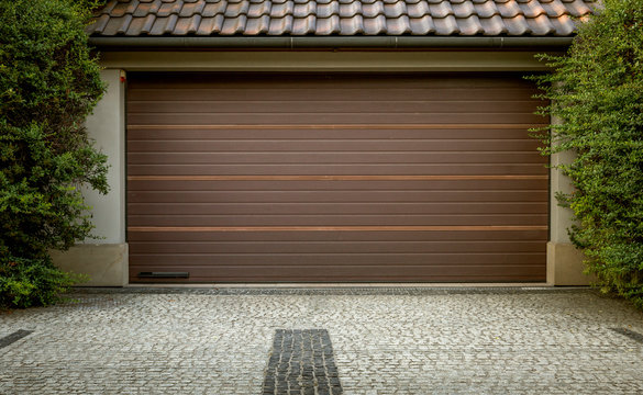 Modern automatic car garage door
