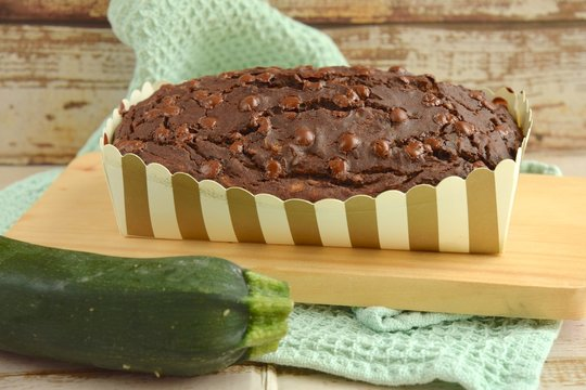 Zucchini chocolate bread with chocolate chips