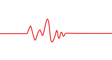 Red heartbeat line icon. Pulse Rate Monitor. Vector illustration.