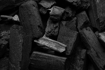 Black minimalistic design. Texture of coal. Burn wood. Copy space. Modern poster or booklet cover. Fotomurales