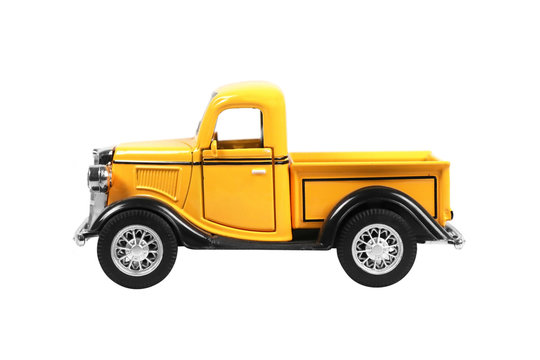 pickup truck car isolated on white