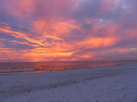 Sunset, Holmes Beach, Anna Maria Island, Bradenton, Florida, USA
