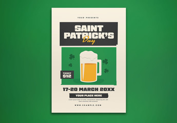 Saint Patrick's Day Party Flyer Layout