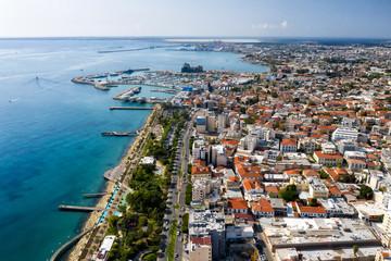 Fotobehang Cyprus Aerial view of western Limassol, Cyprus