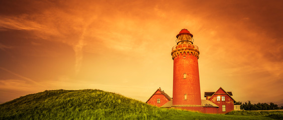 Wall Mural - Bovbjerg Fyr Leuchtturm in Dänemark