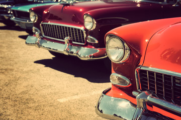 Fotomurales - classic vintage cars parked in a row