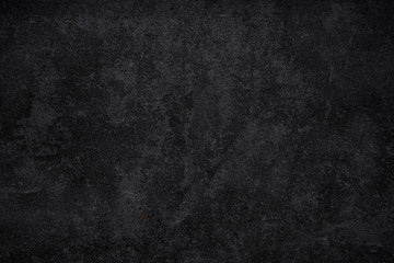Fototapete - Black wall texture rough background, dark concrete floor or old grunge background