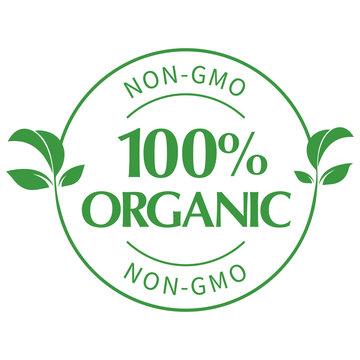 100% Organic Seal - NON-GMO