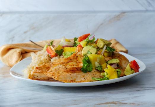 Mexican Chicken Mango Salsa