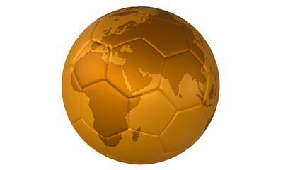3d Golden football