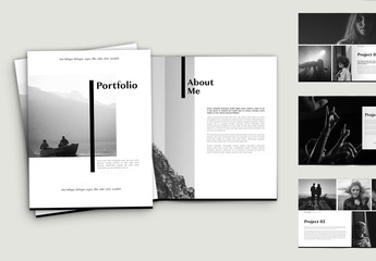 Black and White Portfolio Layout